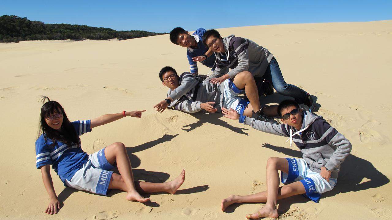 澳洲昆士蘭州教育部國際菁英學生領導統御暨學校體驗營 | 沙很大!看是魯蛇島!
