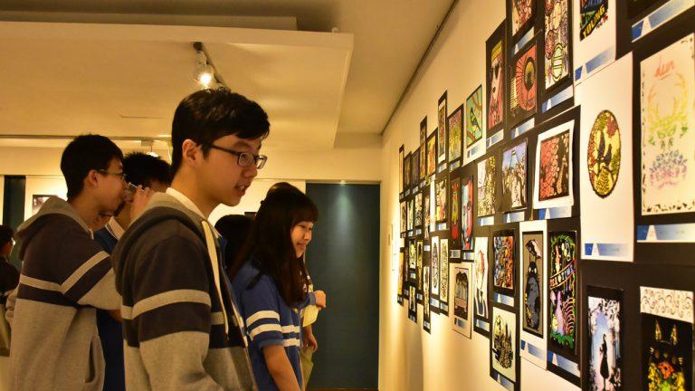 「沒有美術班 一樣能辦美展」 明道高中第二屆美展創意無限